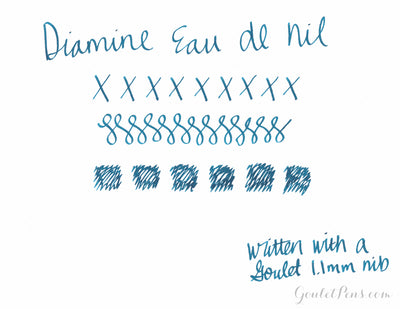 Diamine Eau de Nil - Ink Sample