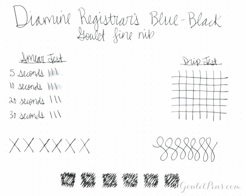 Diamine Registrars Blue-Black - 30ml Bottled Ink