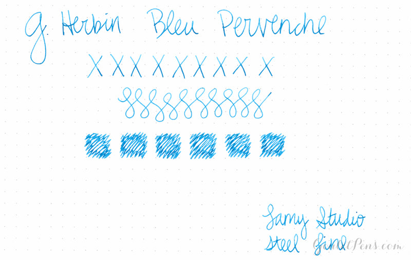 Herbin Bleu Pervenche - Ink Sample