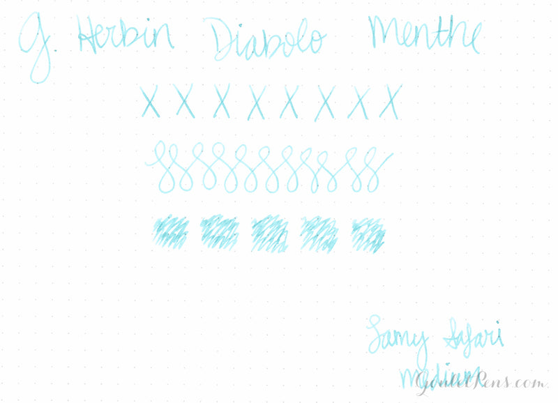 Herbin Diabolo Menthe - Ink Sample