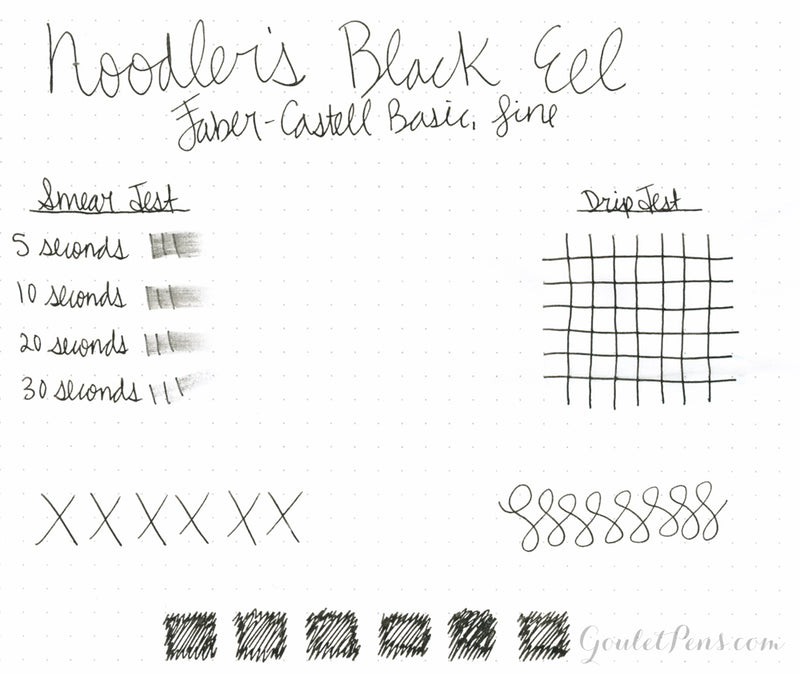 Noodler's Black Eel - Ink Sample