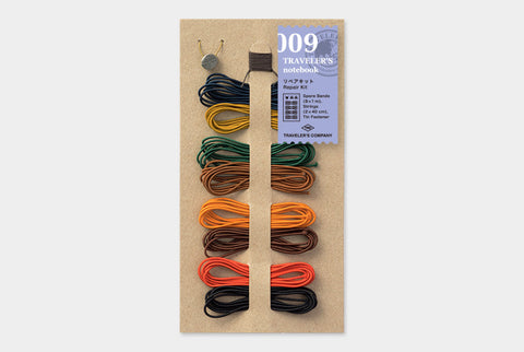 Traveler's Notebook Accessory 009 - Repair Kit (with 8 Spare Bands)