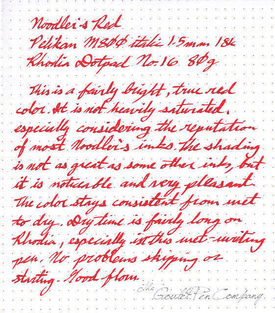 Noodler's Red - Ink Sample