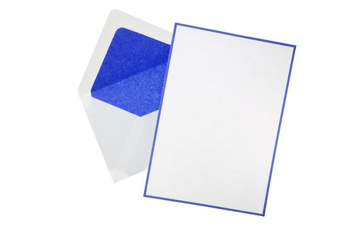 Original Crown Mill Bicolor A5 Correspondence Set - White/Royal Blue