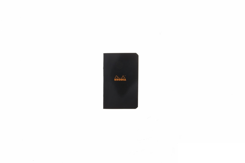 Rhodia Classic Side Staplebound Small Notebook - Black, Graph