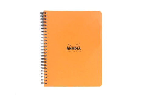 Rhodia Classic Wirebound Meeting Book - Orange, Lined (6.30 x 8.27)