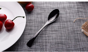 Jet Black Silverware - 4 Piece Set - safetybuys