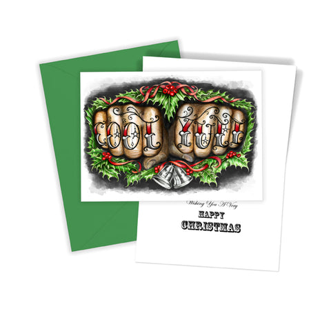 Cool Yule Knuckles Christmas Card