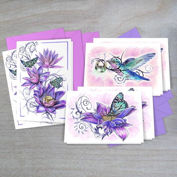 ddddddFlowers & Butterflies Cards Gift Box
