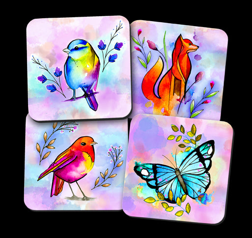ddddddWatercolour Nature Coaster Set