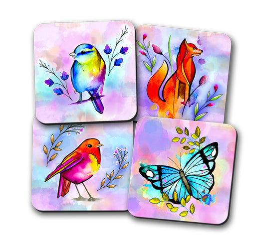 Watercolour Nature Coaster Set