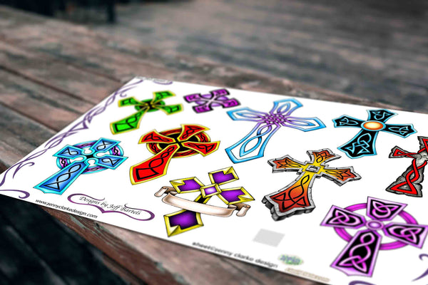 Crosses With Colour Set