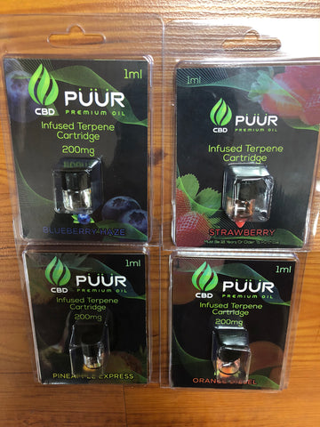 Puur CBD 200mg Terpene Refill Cartridge | USA Vape Inc.