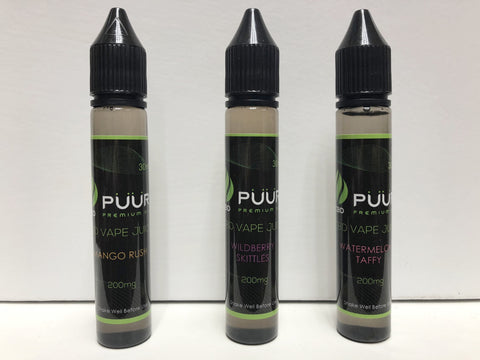 Puur 200mg CBD Vape Juice | USA Vape Inc.