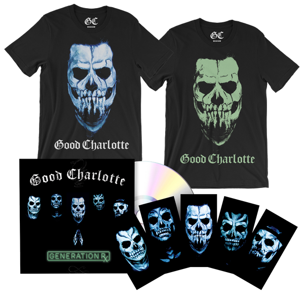 Glow Skull Tee & CD Bundle