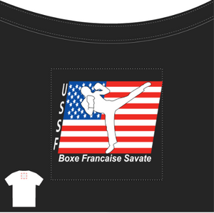 USSF Ladies' Black Scoopneck T-Shirt