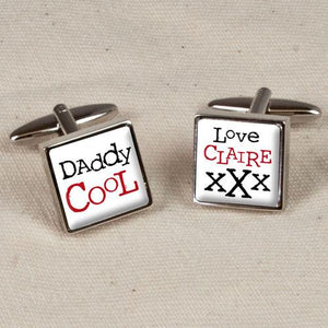 Personalised Daddy Cool Cufflinks