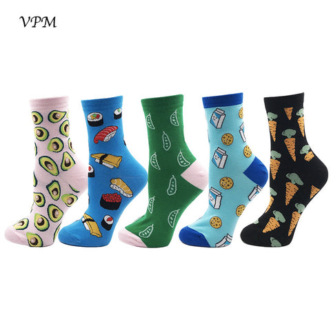 Image of GIFT BOX Women Socks various Colorful Cartoon Cute Food Funny - TrendyGiftIdea