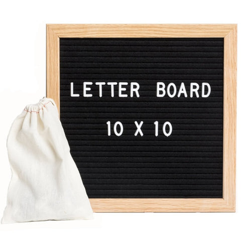 Letter Board Sign with 290 Changeable White Characters - TrendyGiftIdea
