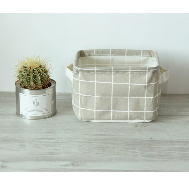 Nordic Style Linen Desk Storage Box Holder - TrendyGiftIdea