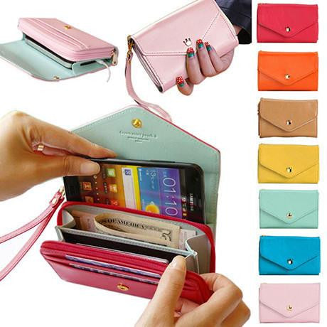 Image of Stylish Smartphone Wallet Purse & Wristlet 3-in-1 - TrendyGiftIdea