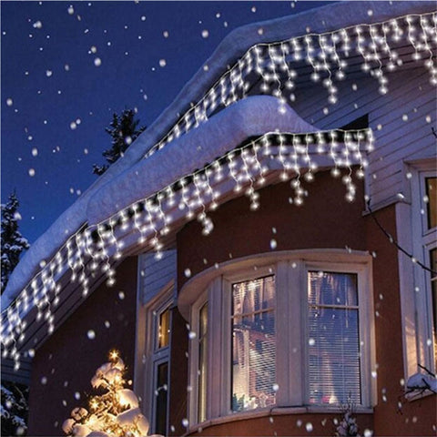 Image of Christmas Curtain Icicle String LED  Lights - TrendyGiftIdea