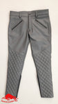 TAURUS LEATHER Grey Cow Leather Padded Pant