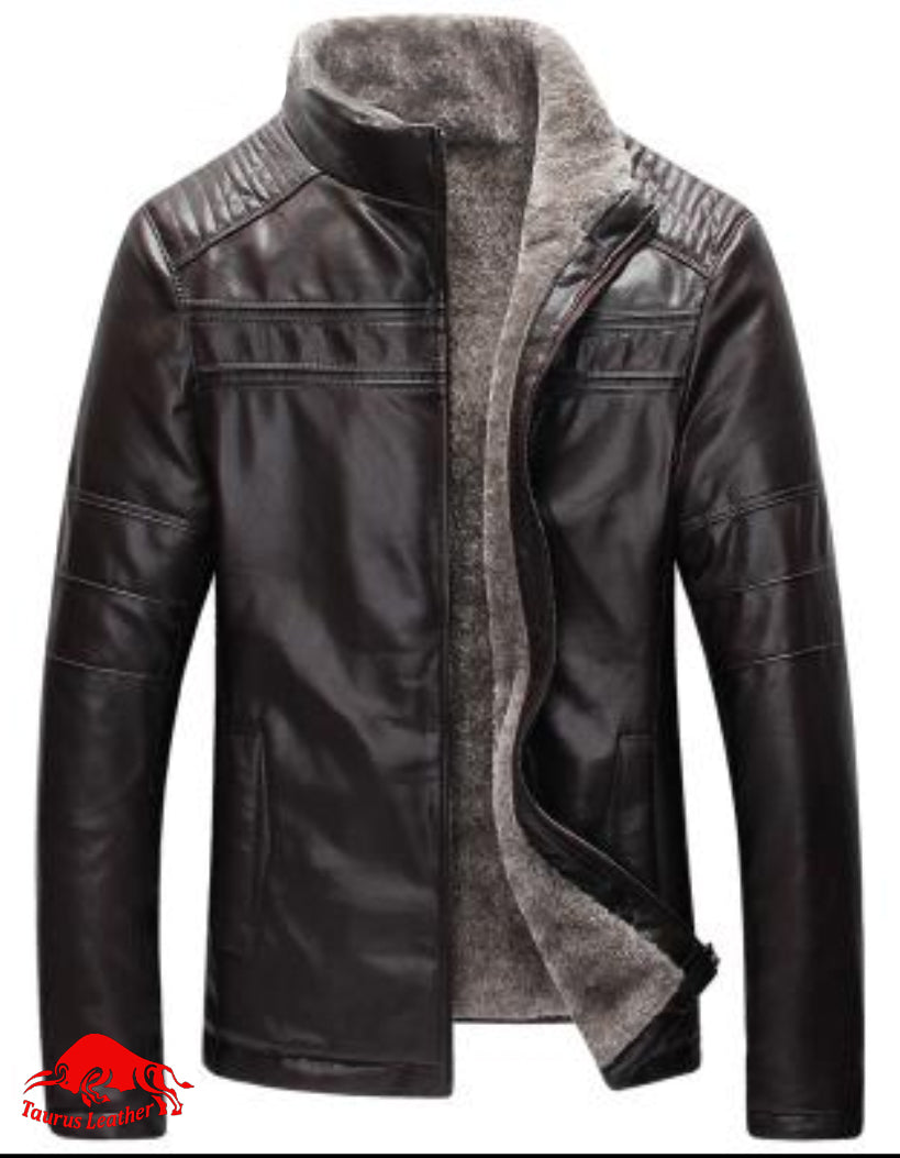 TAURUS LEATHER FUR JACKET