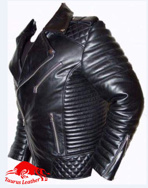 TAURUS LEATHER Stylish Biker Style Cow Leather Jacket