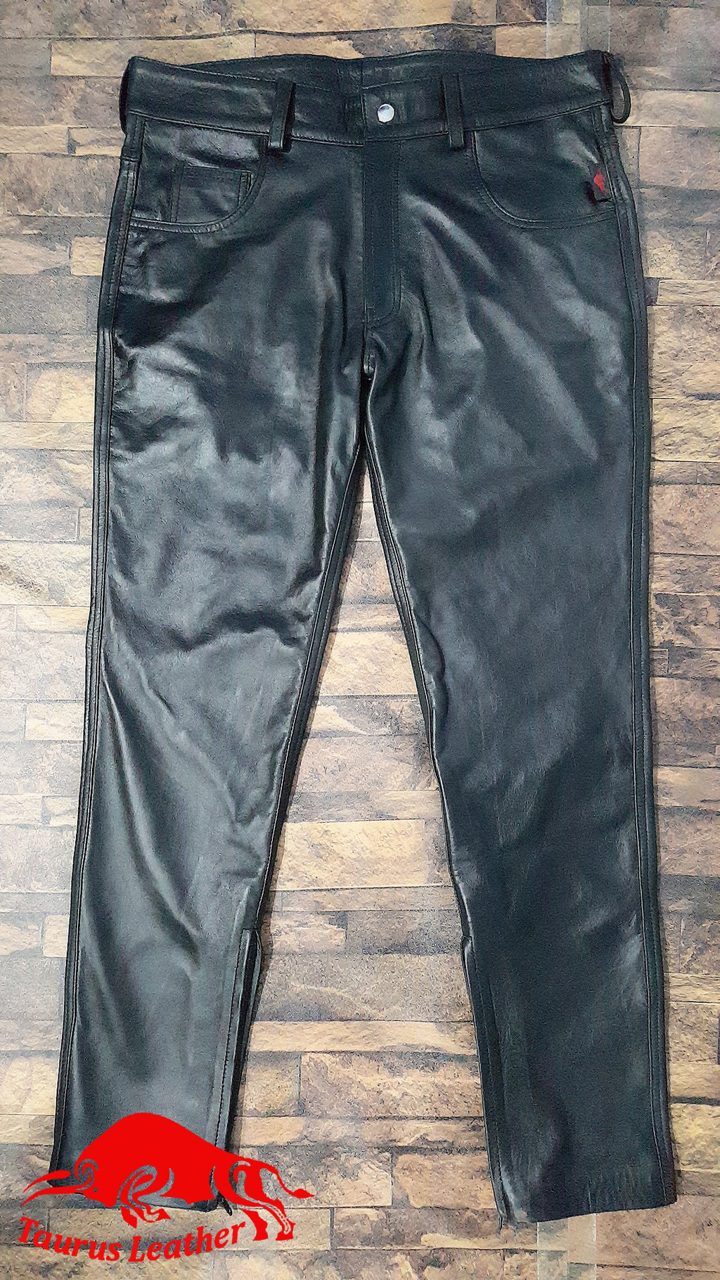 TAURUS LEATHER 501 Cow Leather Black Pant
