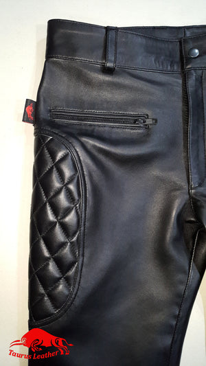 TAURUS LEATHER Double Zipper Pant