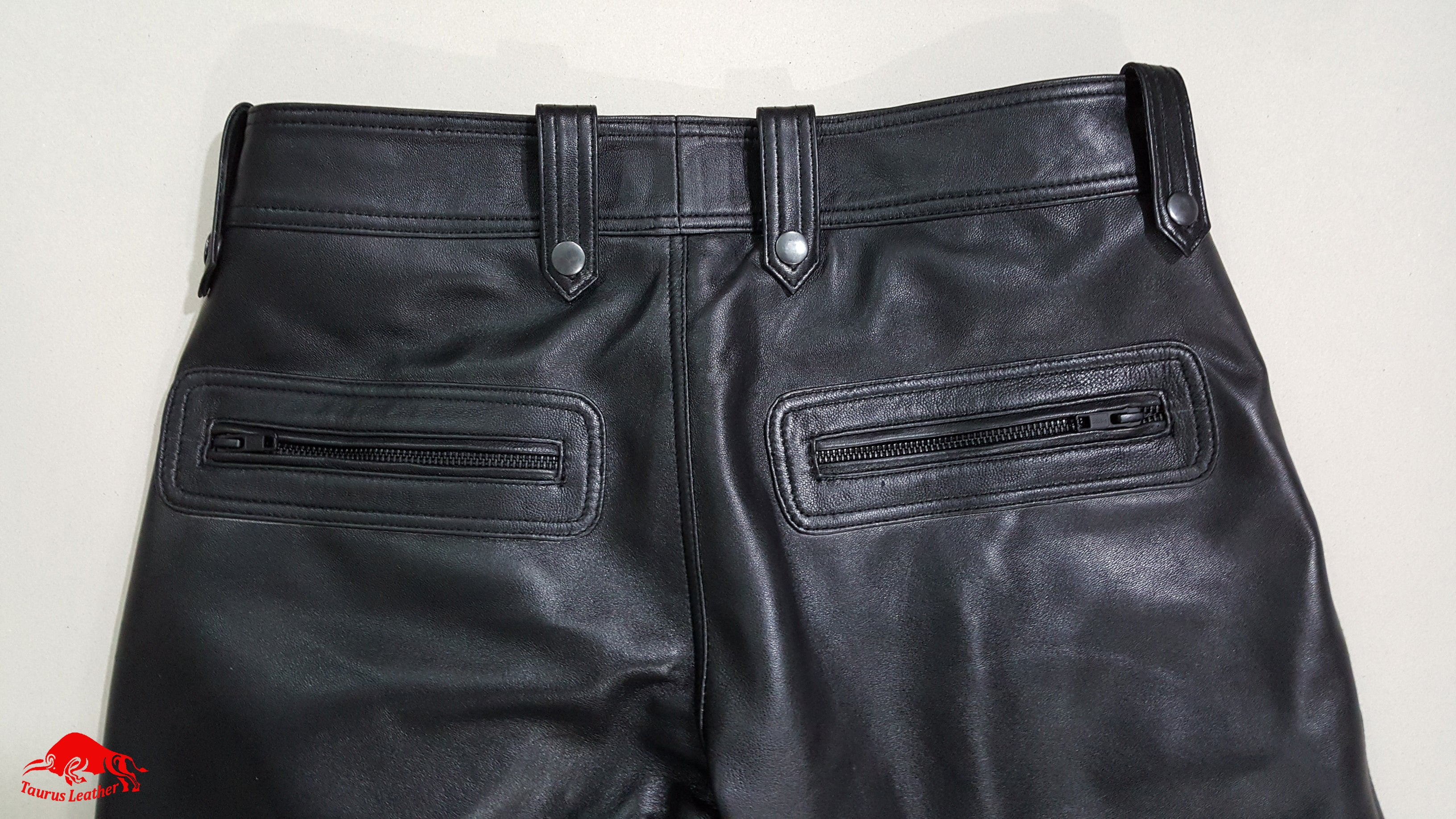 TAURUS LEATHER Sheep Leather Biker Style Pant