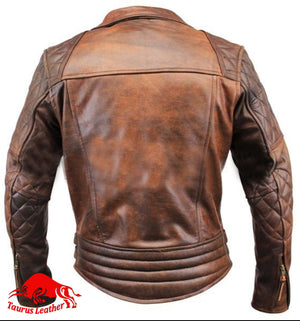 Brown cow leather jackets