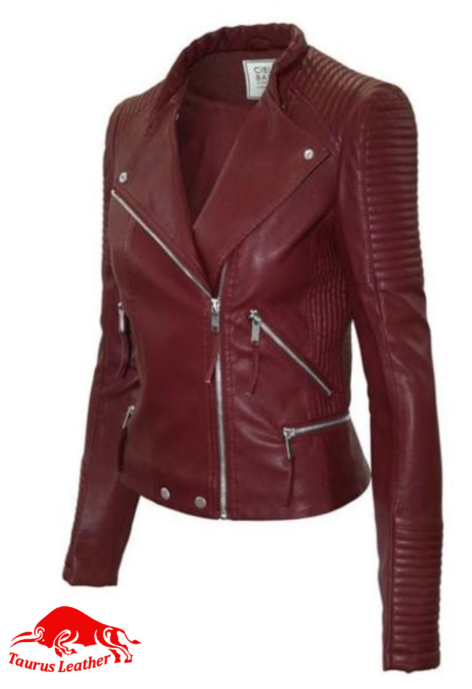 TAURUS LEATHER Women biker style jacket