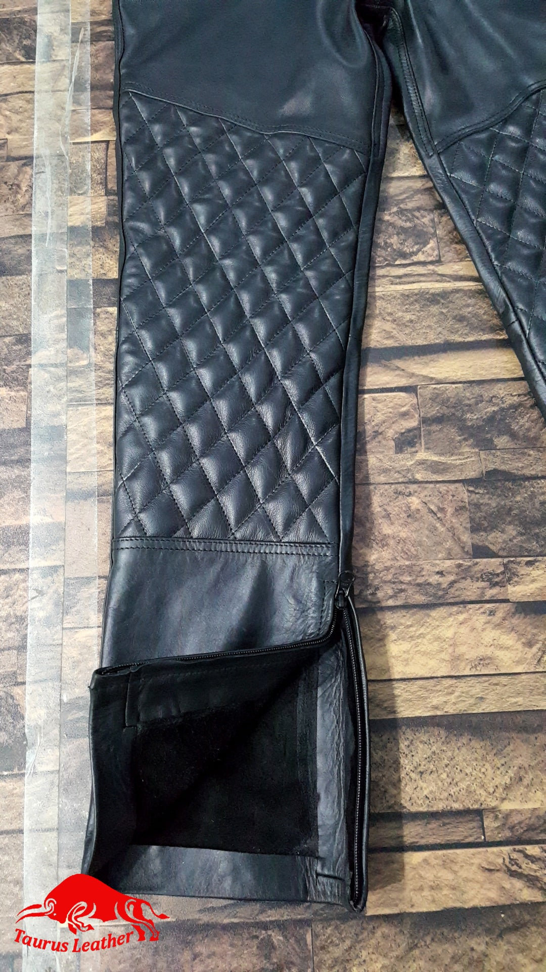 TAURUS LEATHER Black Cow Leather Pant
