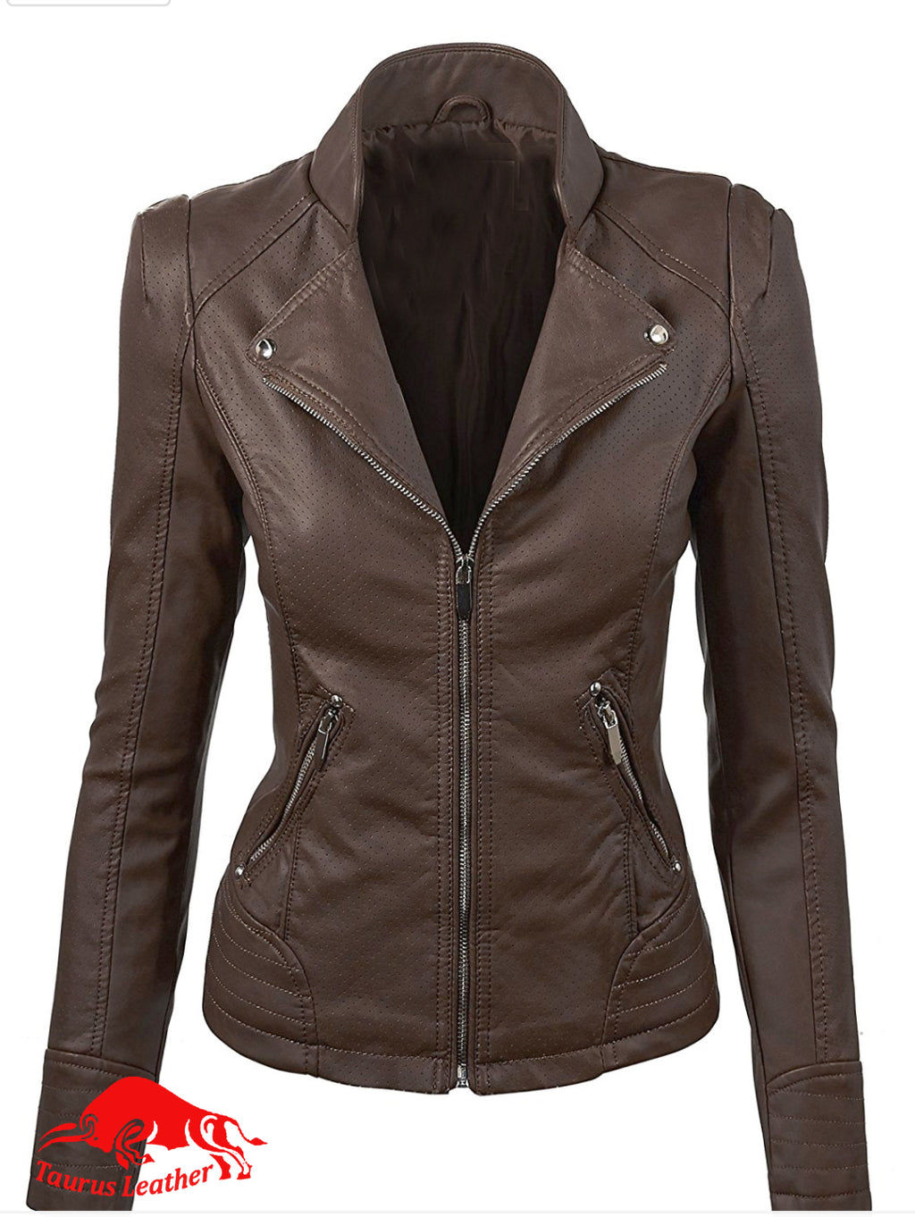 TAURUS LEATHER Dark Brown Sheep Leather Women's Jacket