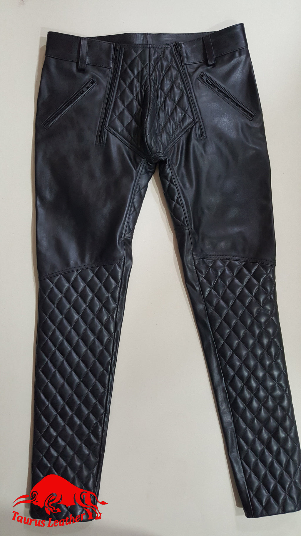 TAURUS LEATHER Cow Leather Padded Trouser