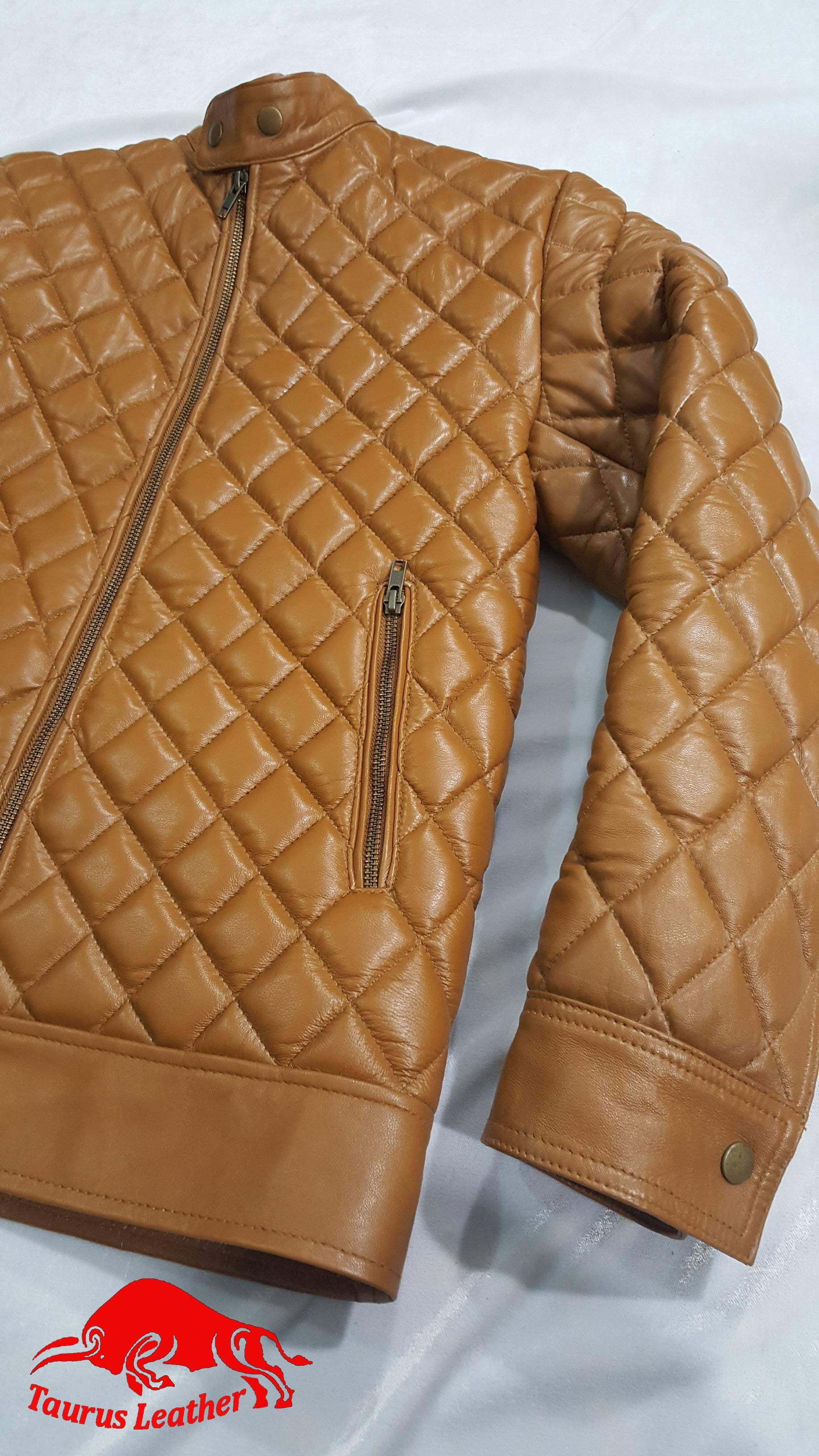 TAURUS LEATHER Quilted Sheep Leather Tank Color Jacket
