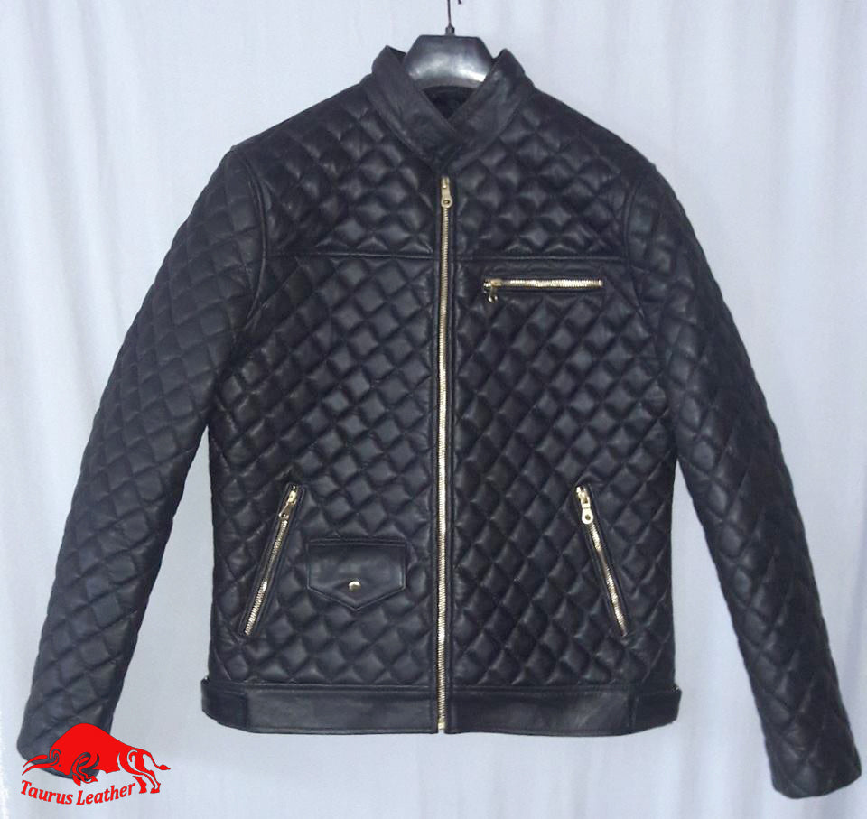 TAURUS LEATHER Woman Quilted Sheep Leather Jacket