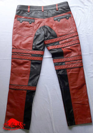 TAURUS LEATHER Beautiful Contrasts Sheep Leather Pant