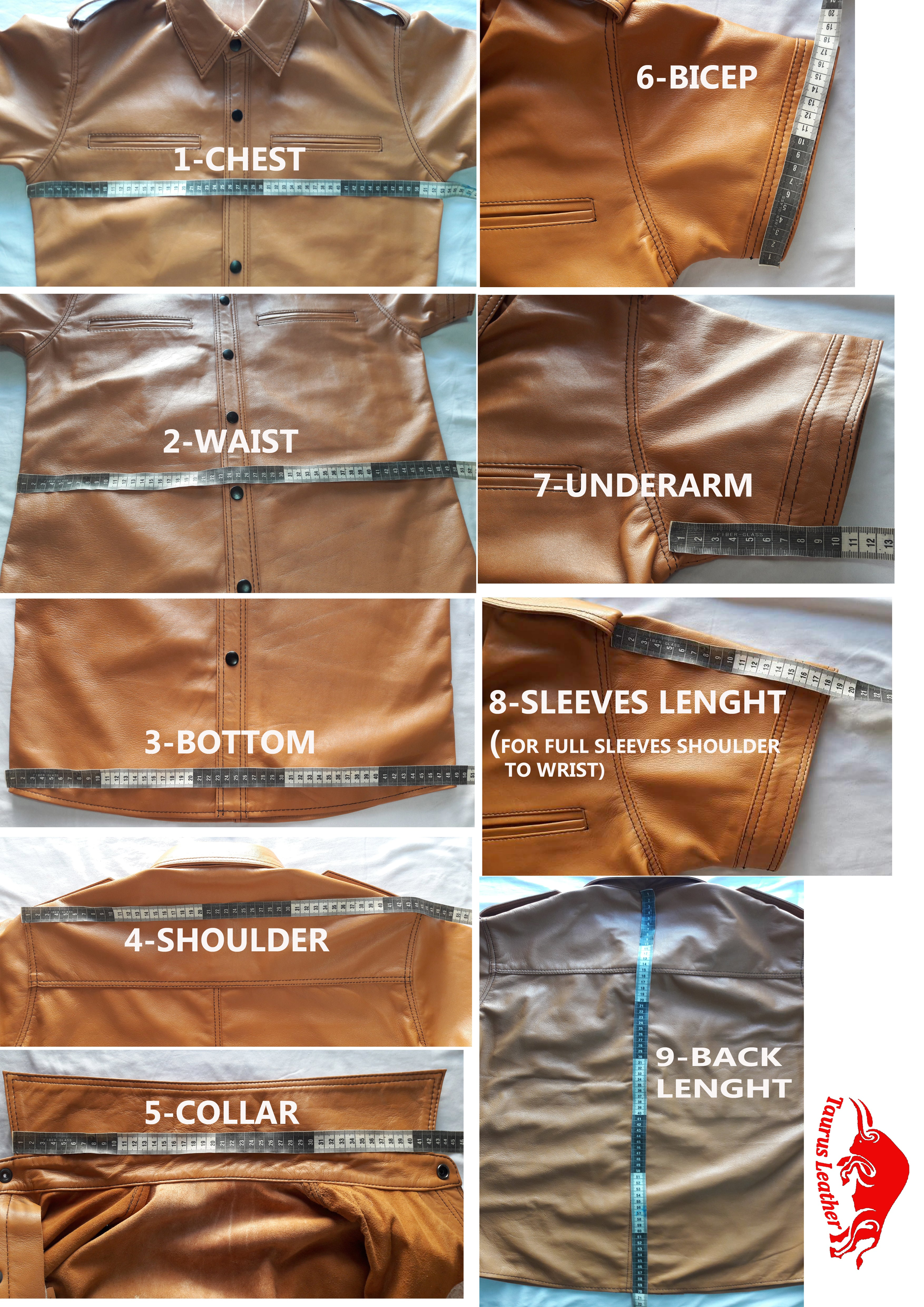 TAURUS LEATHER Tank Color Cow Leather Jacket Wax Article