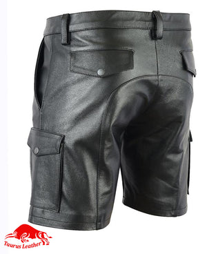 TAURUS LEATHER Sheep Leather Cargo short