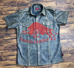 TAURUS LEATHER Smokey Grey Sheep Leather Shirt