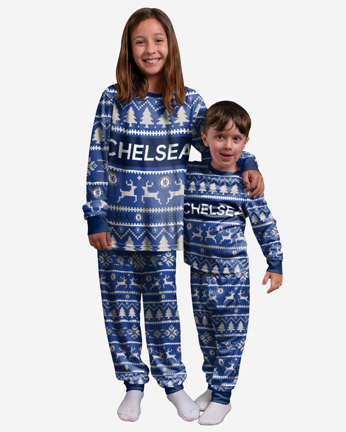 Chelsea FC Youth Family Holiday Pyjamas FOCO 8 (S) - FOCO.com | UK & IRE