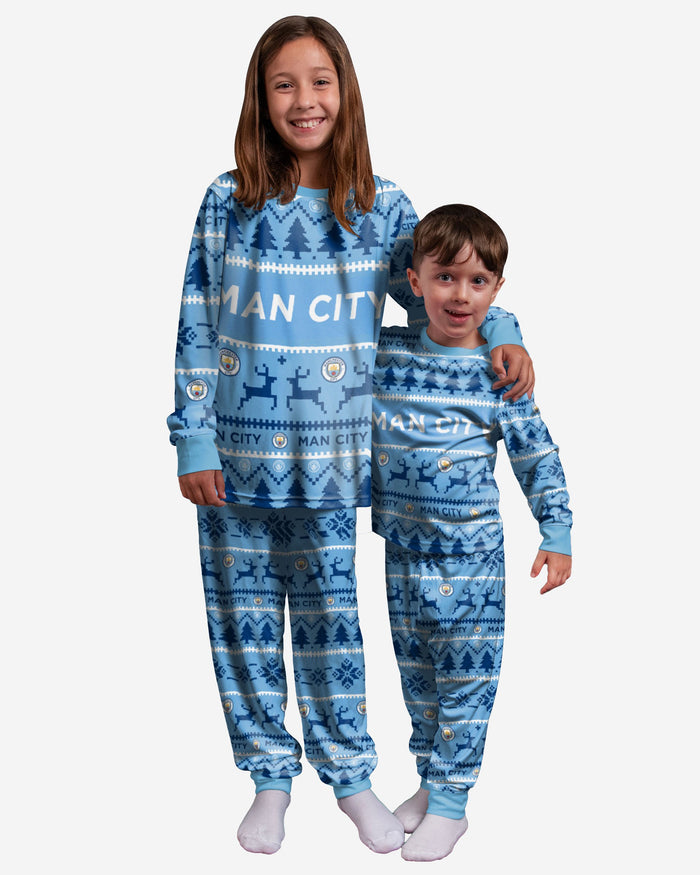 Manchester City FC Youth Family Holiday Pyjamas FOCO 8 (S) - FOCO.com | UK & IRE