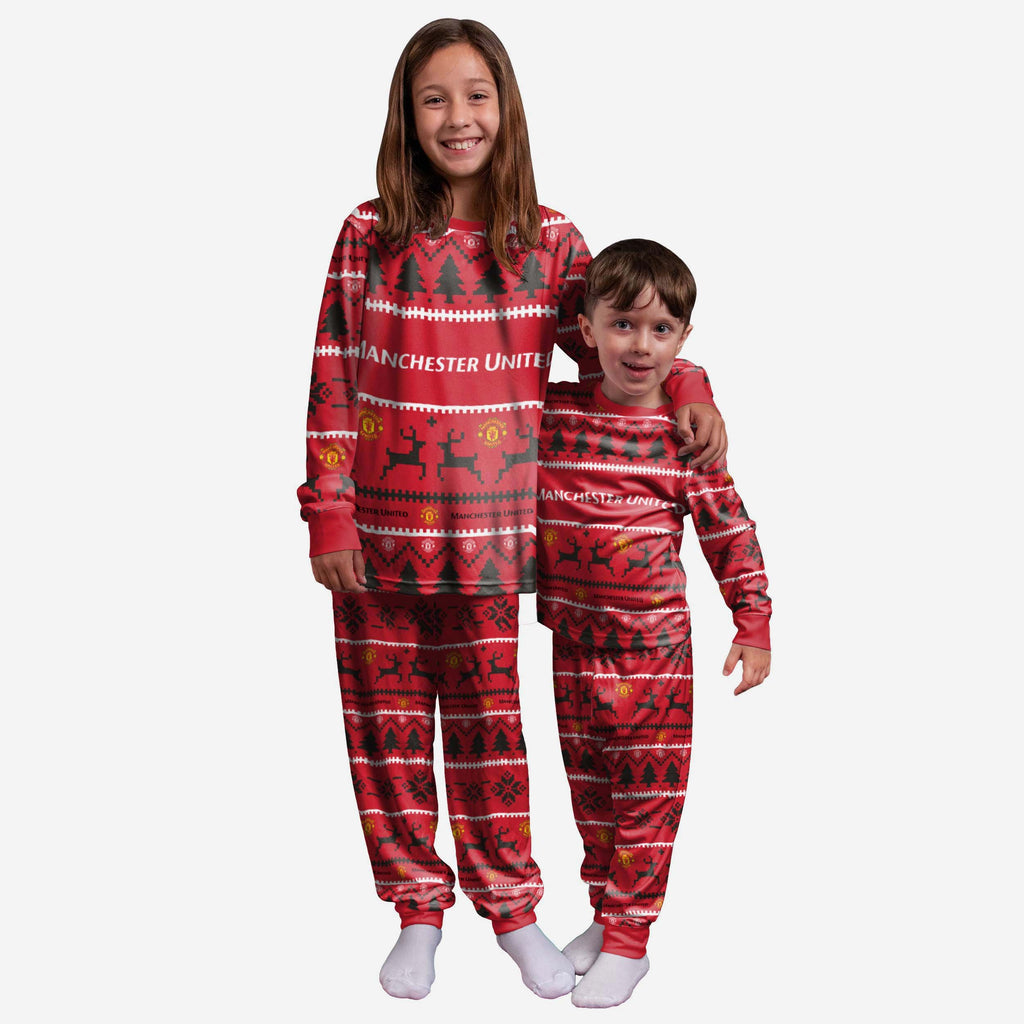 Manchester United FC Youth Family Holiday Pyjamas FOCO 8 (S) - FOCO.com | UK & IRE