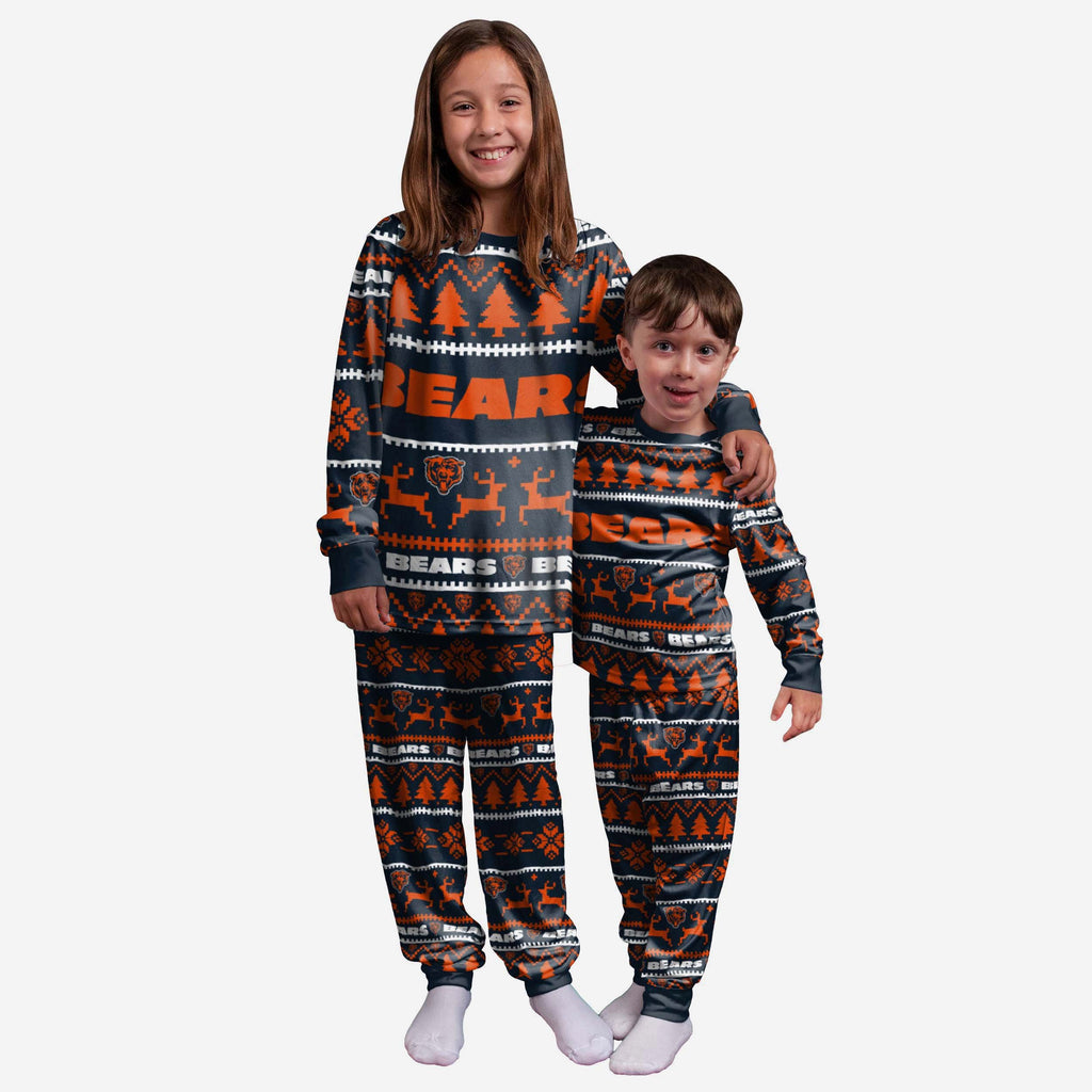 Chicago Bears Youth Family Holiday Pyjamas FOCO 4 - FOCO.com | UK & IRE