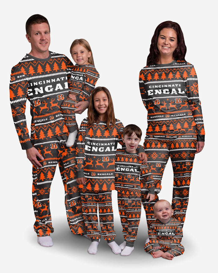 Cincinnati Bengals Youth Family Holiday Pyjamas FOCO - FOCO.com | UK & IRE