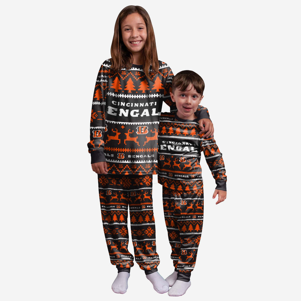 Cincinnati Bengals Youth Family Holiday Pyjamas FOCO 4 - FOCO.com | UK & IRE