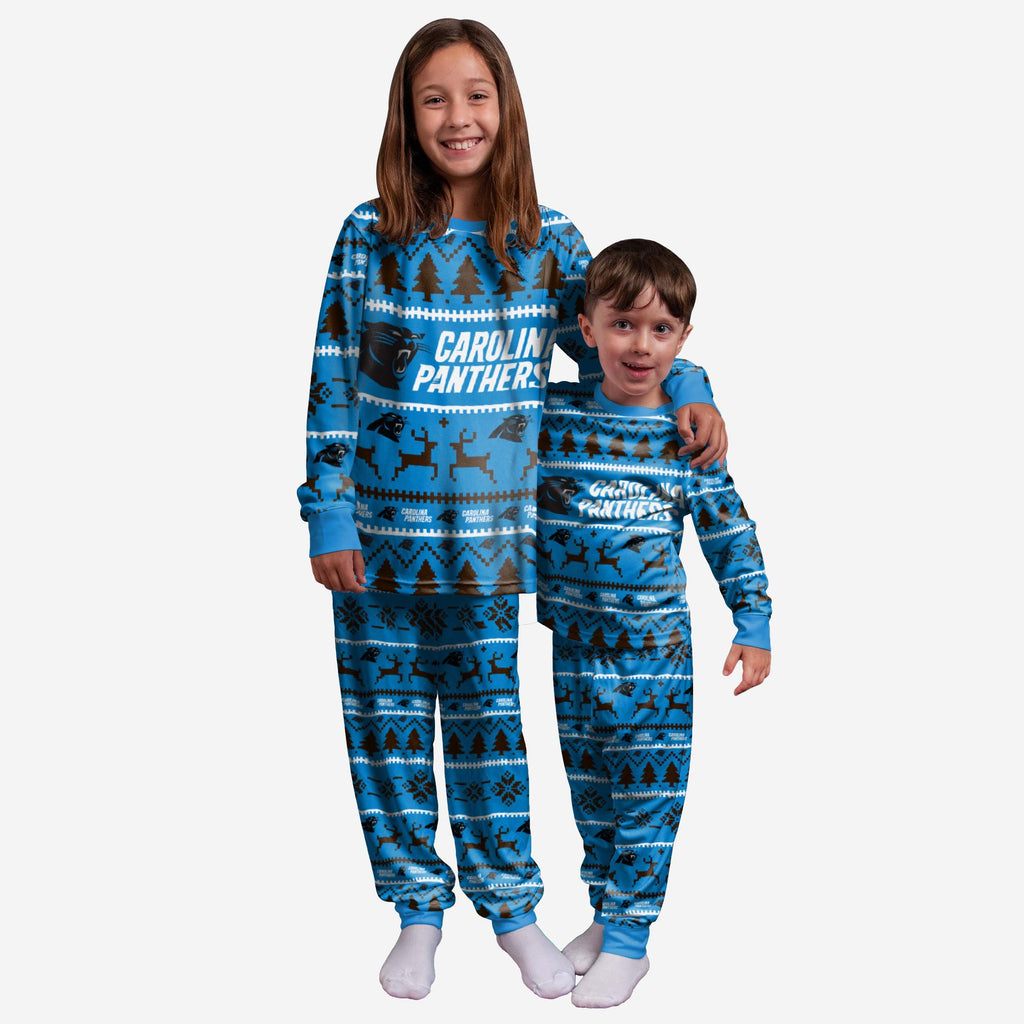 Carolina Panthers Youth Family Holiday Pyjamas FOCO 4 - FOCO.com | UK & IRE